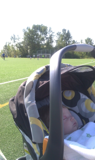 At daddy's game